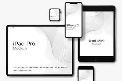 Responsive Web Design Screen Mockup