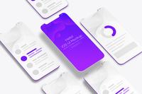 Ui Design Isometric Mockup