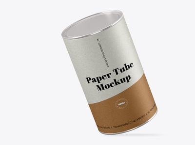 Cardboard Can Packaging Mockup