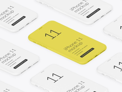 iPhone 11 Pro Isometric Clay Mockup logo ui design mockup branding phone mockup devices mockup ui mockup apple mockup iphone 11 mockup iphone mockup iphone 11