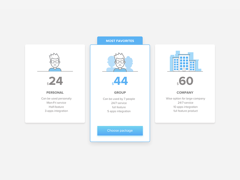 Pricing Page - Exploration