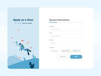 Form Design - Diver Registration Page