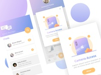 Camera Access Illustration and Chat UI Exploration