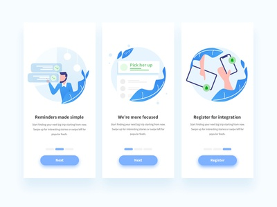 Onboarding Design for To-Do List app icon person business app blue todo app todo ios interface illustration ux ui