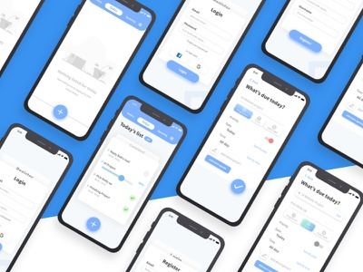 Dribbble Todo List App blue simple elegant mobile ios icon interface app minimal illustration ux ui