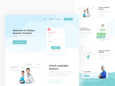 Homepage for a Hospital design website homepage doctor medical hospital landing page minimal ux ui
