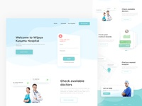 Homepage for a Hospital design