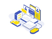 Isometric Illustration - Profile and UX research