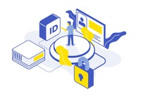 Isometric Illustration - Data Security