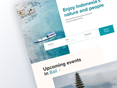 Travel to Indonesia Web Landing Page tourism indonesia nature saas landing page homepage landing page onboarding website ux ui