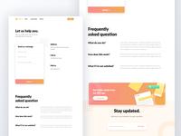 Contact Us Website UI Design Exploration