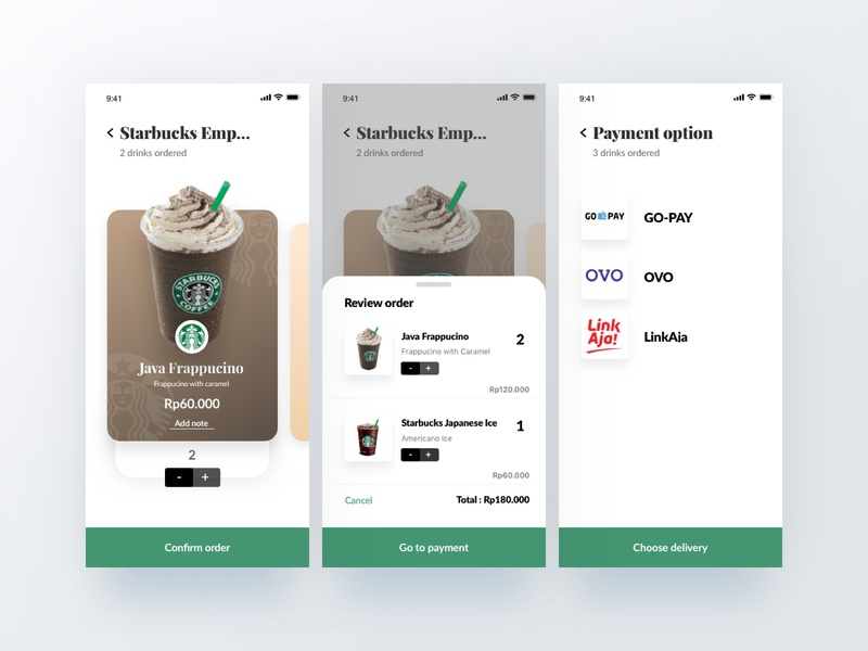Coffee App - Payment payment finder coffee app ios interface ux ui