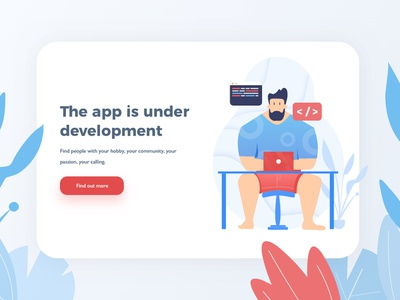App is Under Development illustration development onboarding onboarding illustration app design vector web illustration ux ui