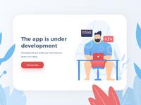 App is Under Development illustration
