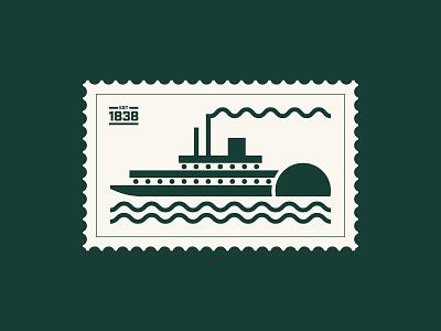 Steamboat illustration steamboat