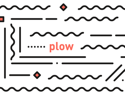 cultivation — plow red black white geometric simple cultivation plow minimal