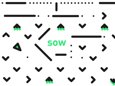 cultivation — sow simple cultivation sow minimal white black green