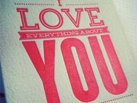 Valentines Day Letterpress