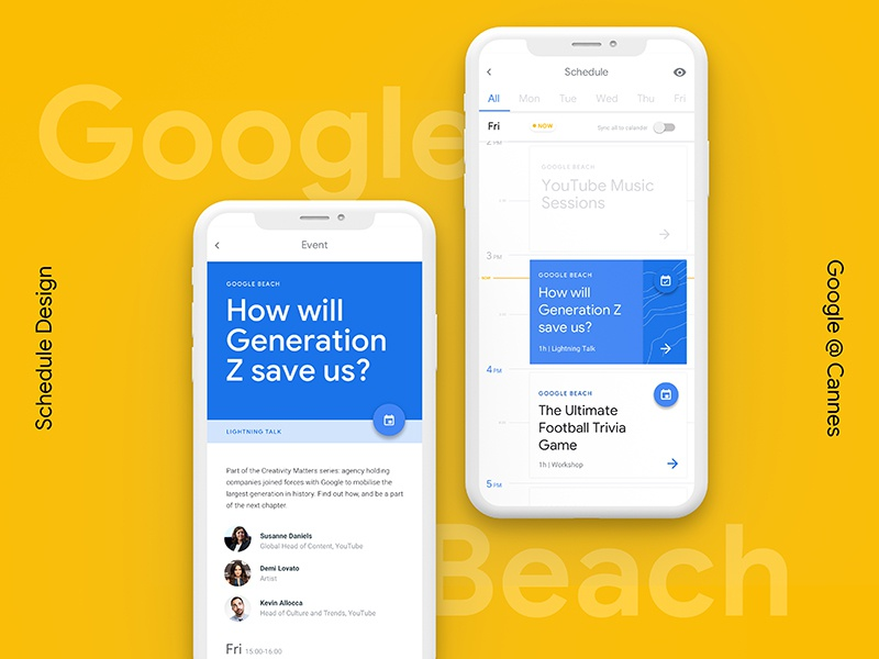 Google Beach Schedule By Charlie Green Dribbble Dribbble