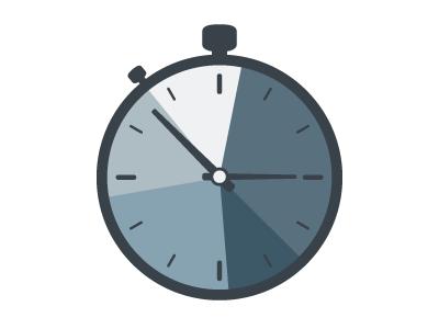 Stopwatch Pie Chart Graphic