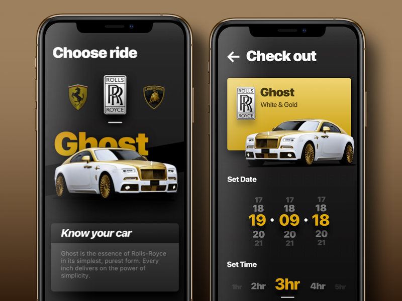 Uber For Luxury Car Booking App Ui Ux By Allurive Dribbble Dribbble