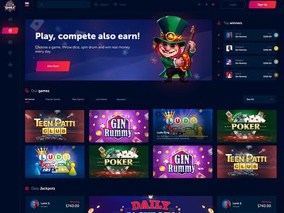 CASINO: Wolf777 wolf game webdesign interface gambling poker casino
