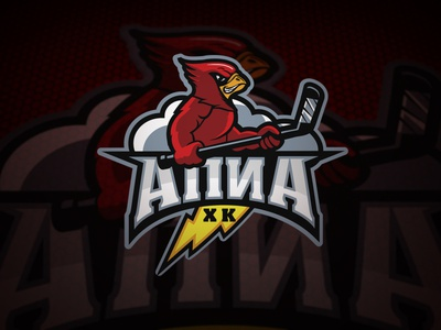 Logo: APIA Hockey Team logo hockey stick club illustration character sport team