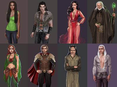 Запретный плод - Character design 2D vector art mobile game design 2d character character design game art illustration