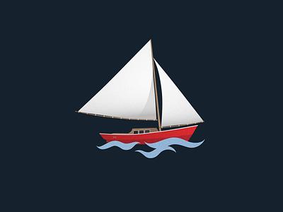 dreaming of summertime illustration design digital graphic  design illustrator boat spotillustration vector summer