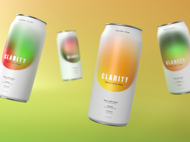 Clarity Cans branding graphic  design digital design graphicdesign packagedesign packaging