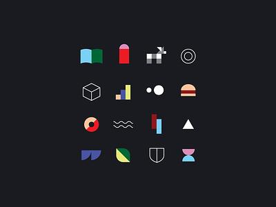 Icon system concept icon symbols illustrator mark vector graphic  design digital design illustration iconset icons