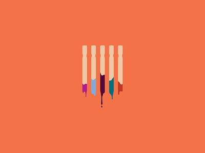 Professional painter logo branding illustration mark vector graphic  design design illustrator logo