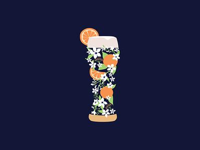 Blue Moon Beer Illustration branding illustrator vector graphic  design illustration design