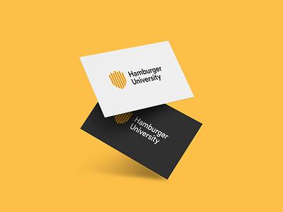 Hamburger University Logo identity branding identity design identity branding illustrator mark vector graphic  design illustration design logodesign logo