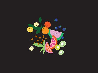 Fruit Illustration fruit illustration fruits illustrator digital vector graphic  design illustration design