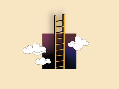 Ladder to nowhere illustrator digital vector illustration graphic  design design