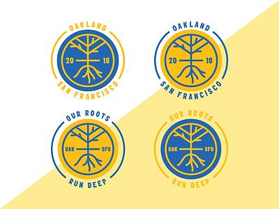 Golden State Warrior Bagdes illustrator vector badges icons