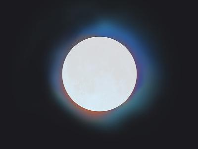 Moon Aura photoshop moon color