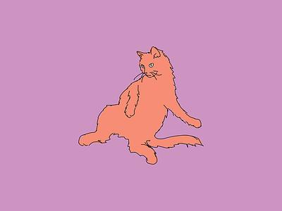 Kitty cat vector kitty illustration