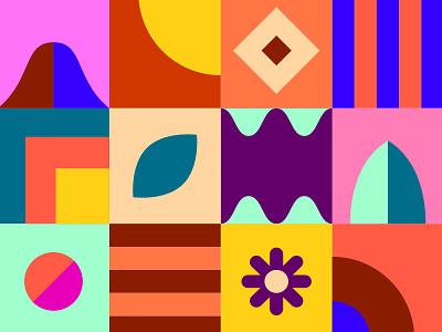 Summer Fun pattern symbols icon graphic  design vector design illustration