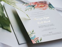 Gold Foil + Watercolour Florals