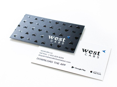 West Cabs Business Cards