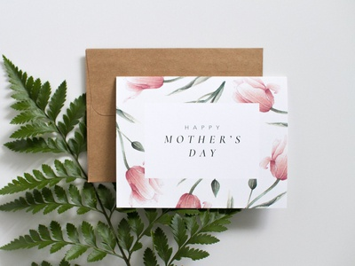 Watercolour Flowers + Design | Mother's Day Card