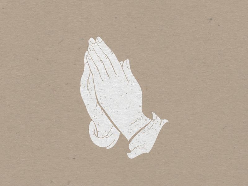 Praying Hands kraft paper digital illustration icon design flat branding brand illustration art illustration sermon prayer church design church pray