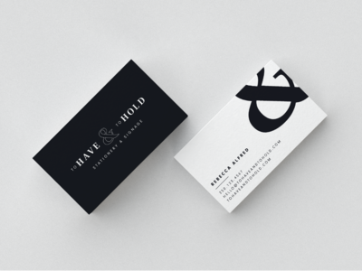 To Have & To Hold | Business Cards