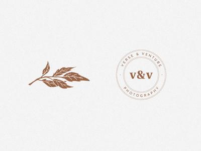 Verse & Venture | Photography Icons badge leaf illustration leaf icon custom icons photography logo wedding design feminine icon flowers illustration design brand branding