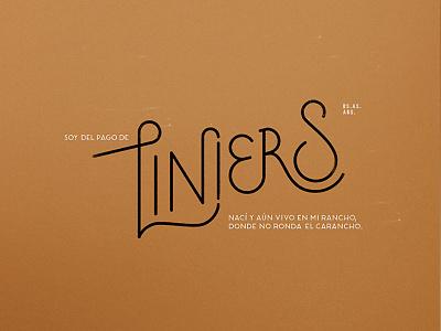 Liniers logotype typeface pilot type logo font neighborhood barrios vectors calligraphy handlettering lettering typography