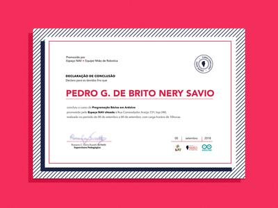 Certificate badge print certification design flat education
