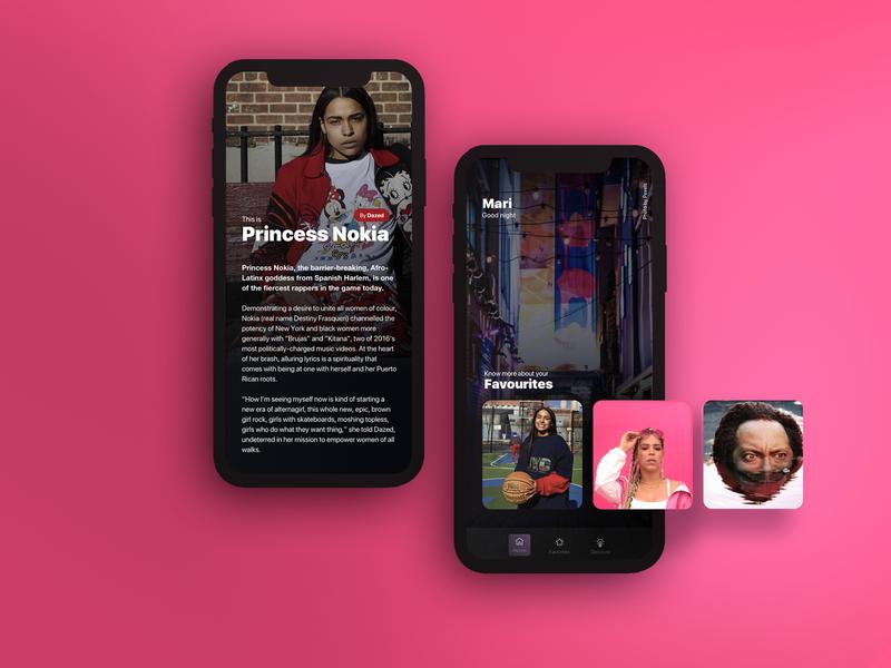 Music app iphone x iphone music music app princess pink app interface ui design