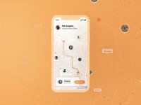 Bora Correr Interface sketchapp map curitiba running app app run iphone x iphone interface design interface